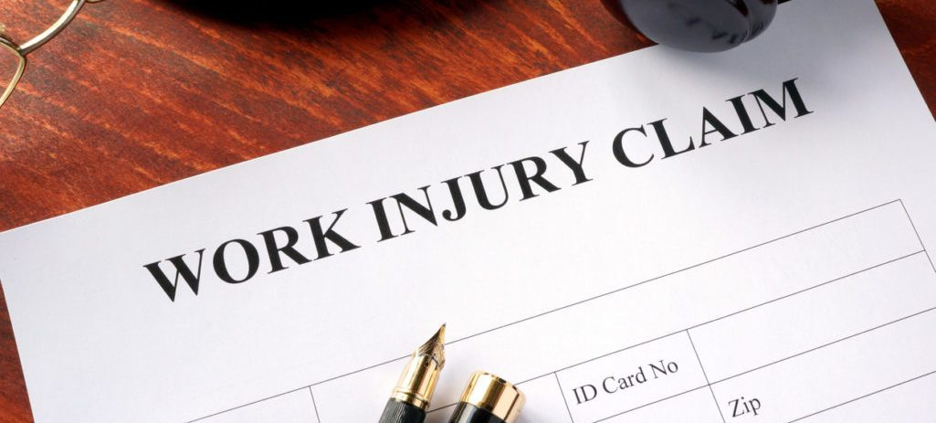 Work Injury Claim Form on Desk